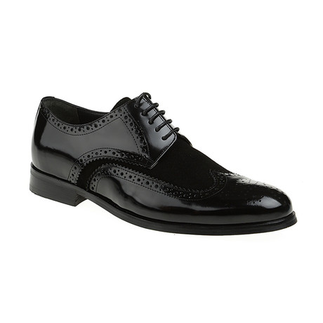 Suede Wing-Tip Brogue // Black (Euro: 40)