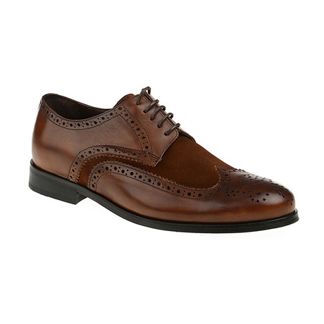 Suede Wing-Tip Brogue // Tobacco (Euro: 40)