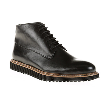 Plain-Toe Boot // Black (Euro: 40)
