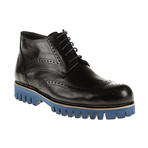 Medallion Wing-Tip Lug Boot // Black (Euro: 40)