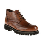 Medallion Wing-Tip Lug Boot // Tobacco (Euro: 40)