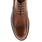 Medallion Wing-Tip Lug Boot // Tobacco (Euro: 41)