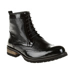 Textured Wing-Tip Boot // Black (Euro: 43)