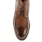 Textured Wing-Tip Boot // Tobacco (Euro: 41)