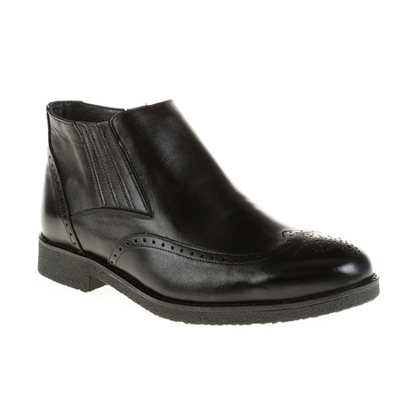 Medallion Ankle Chelsea Boot // Black (Euro: 40)