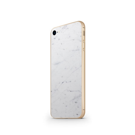 The Marble Case // Bianco Carrara (Champagne: iPhone 6/6s)