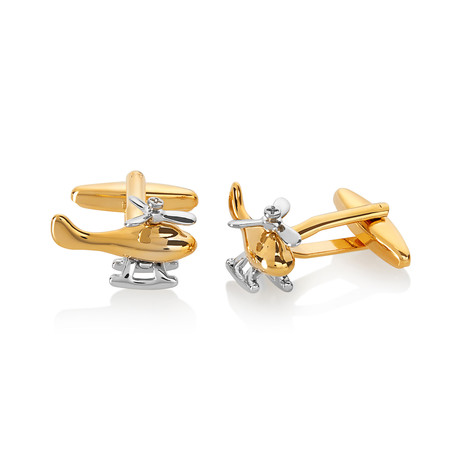 Helicopter Spinning Propeller Cuff Links