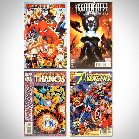 Signed Comics // Avengers, Secret Wars, Thanos & Annihilator // Set of 4