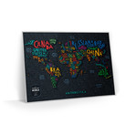 World // Travel Map Letters