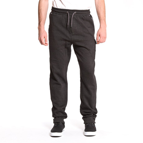 Contrast Zipper Jogger // Black (S)
