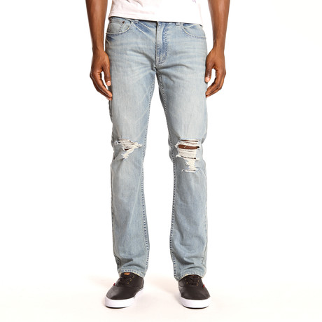Medium Wash Distressed Jean (30WX32L)