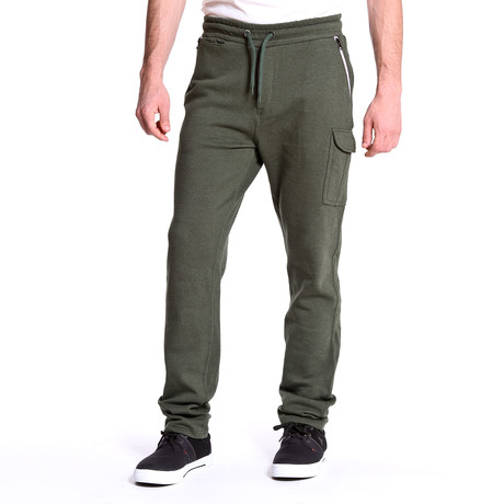 Contrast Zipper Jogger // Green (S)