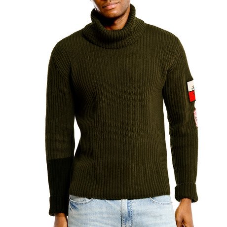 Artistix Turtleneck Sweater // Olive (S)