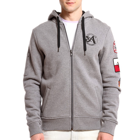 Patchwork Hoodie // Heather Gray (S)
