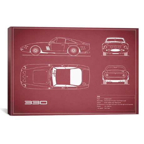 """1963 Ferrari 330 LM Berlinetta (26""""W x 18""""H x .75""""D)"""