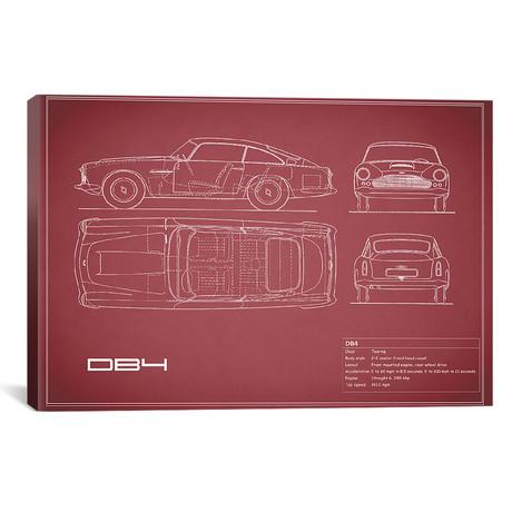 """1962 Aston Martin DB4 (26""""W x 18""""H x .75""""D)"""