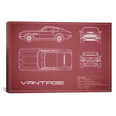 "Aston Martin V8 Vantage (26""W x 18""H x .75""D)"