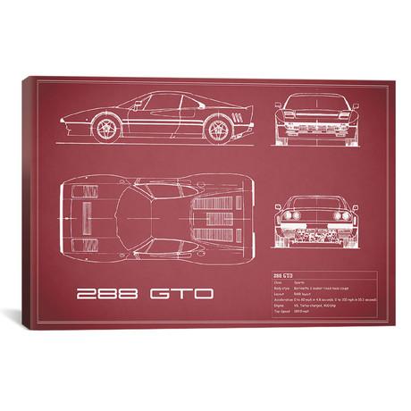 "Ferrari 288 GTO (26""W x 18""H x .75""D)"