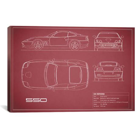 """Ferrari 550 Maranello (26""""W x 18""""H x .75""""D)"""