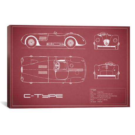 """Jaguar C-Type (26""""W x 18""""H x .75""""D)"""