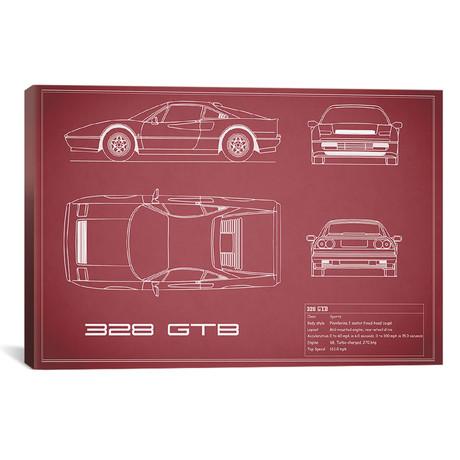 """Ferrari 328 GTB (26""""W x 18""""H x .75""""D)"""
