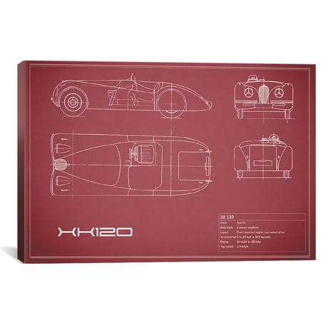 """Jaguar XK120 (26""""W x 18""""H x .75""""D)"""