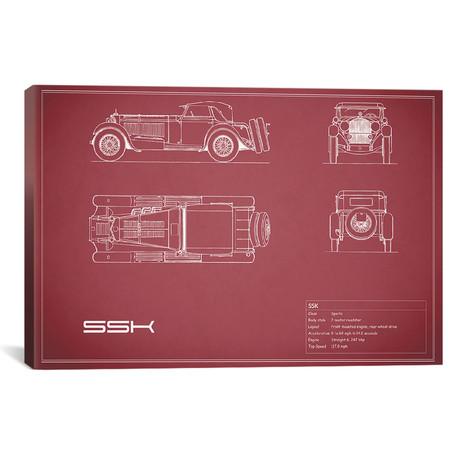 """Mercedes-Benz SSK (26""""W x 18""""H x .75""""D)"""