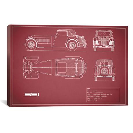 "Swallow Coachbuilding Company (Jaguar) SS 1 (26""W x 18""H x .75""D)"