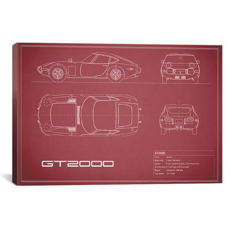 """Toyota 2000GT (26""""W x 18""""H x .75""""D)"""