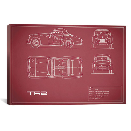 "Triumph TR2 (26""W x 18""H x .75""D)"