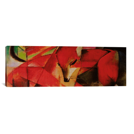 "The Fox (Panoramic) // Franz Marc // 1913 (60""W x 20""H x .75""D)"