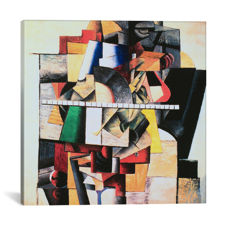 "M. Matushin // Kazimir Malevich // 1913 (18""W x 18""H x .75""D)"
