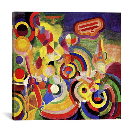 """Homage to Bleriot // Robert Delaunay // 1914 (37""""W x 37""""H x .75""""D)"""