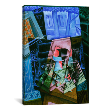 "Still Life before an Open Window, Place Ravignan // Juan Gris // 1915 (18""W x 26""H x .75""D)"