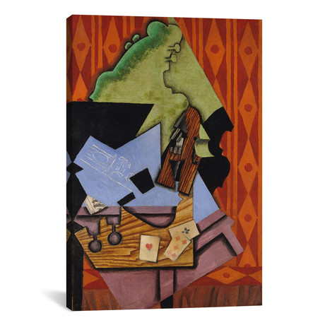 "Violin and Playing Cards on a Table // Juan Gris // 1913 (18""W x 26""H x .75""D)"