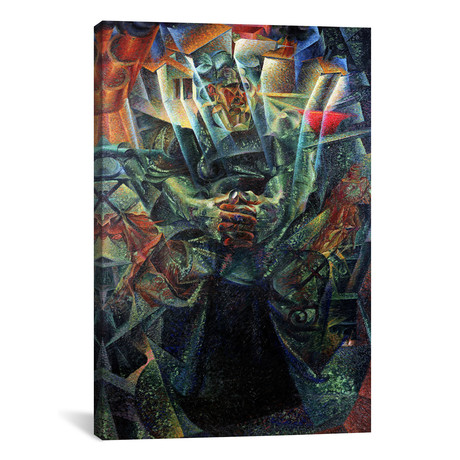 "Materia // Umberto Boccioni // 1912 (18""W x 26""H x .75""D)"