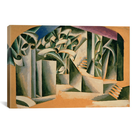 "Stage Design For Romeo and Juliet // Lyubov Popova // 1920 (60""W x 40""H x 1.5""D)"