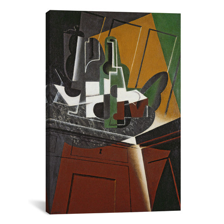 "The Sideboard // Oil on Plywood // Juan Gris // 1917 (26""W x 18""H x 0.75""D)"