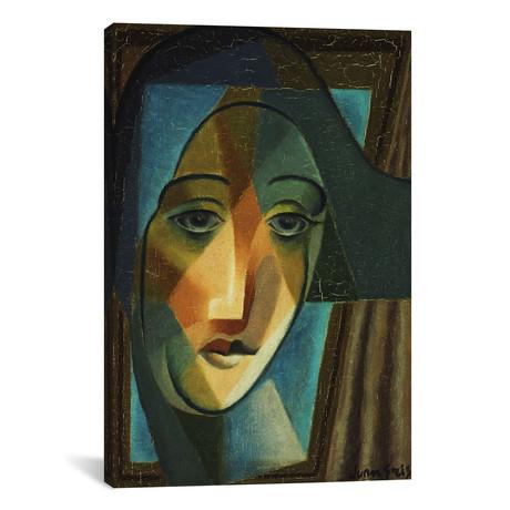 "Head of a Harlequin // Tete d'Arlequin  // Juan Gris // 1924 (18""W x 26""H x .75""D)"