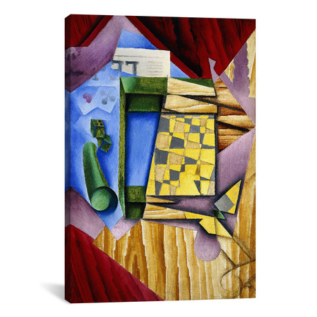 "Backgammon // Juan Gris // 1914 (18""W x 26""H x .75""D)"