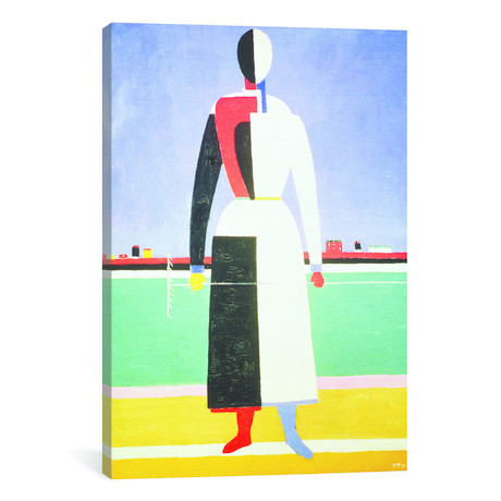 Woman With A Rake // Kazimir Malevich // 1928