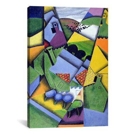 "Landscape and Houses at Ceret // Juan Gris // 1913 (18""W x 26""H x .75""D)"
