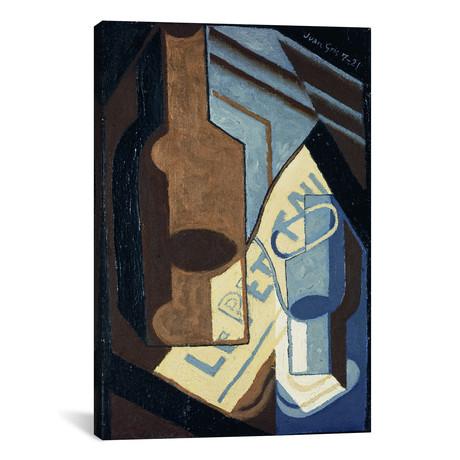 """Bottle + Glass // Bouteille et Verre // Juan Gris // 1921 (26""""W x 18""""H x 0.75""""D)"""