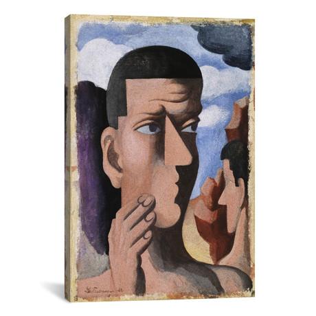 """Castor and Pollux // Roger de la Fresnaye // 1922 (40""""W x 60""""H x 1.5""""D)"""