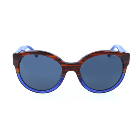 Albion Sunglass // Striped Havana Blue