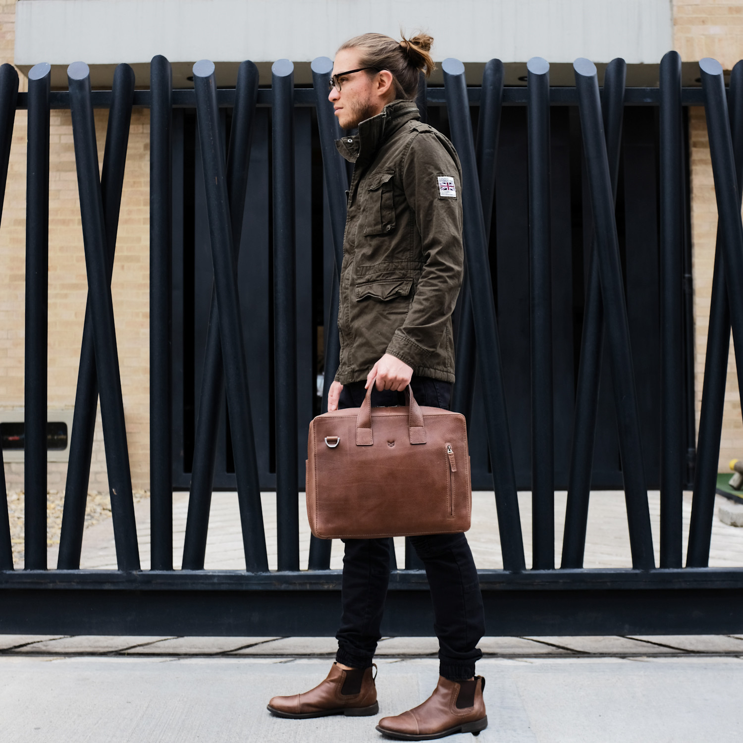 4f9766a75c67 Roko Briefcase // Tobacco (Large) - Capra Leather - Touch of Modern