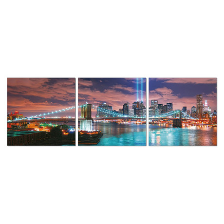 "Mirror Image of New York City (20""H x 60""W x 1""D)"