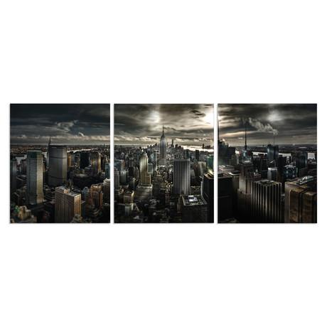 "New York City Night (20""H x 60""W x 1""D)"