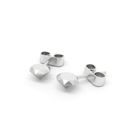 Diamond Earrings // Sterling Silver