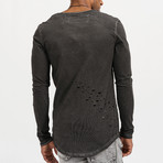 Boomer Distressed Long Sleeve // Anthracite (S)